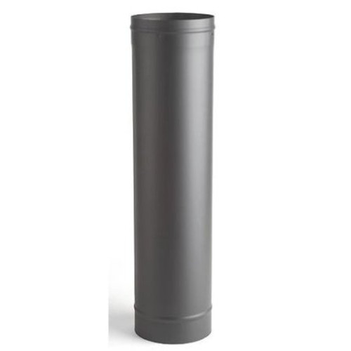 "Heat Fab 6"" x 12"" Black Welded Stove Pipe"