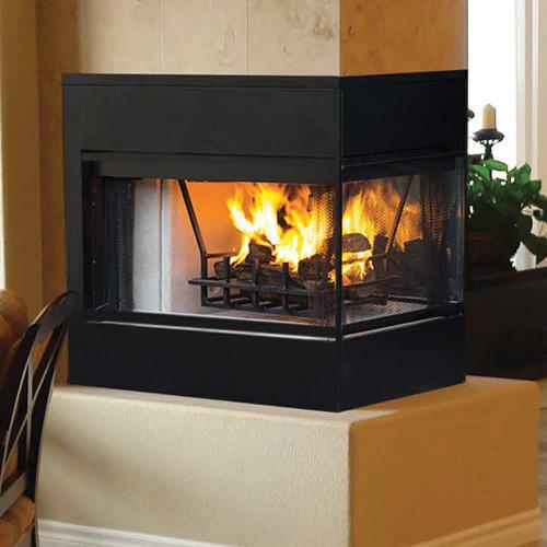 Superior wrt 4000 peninusla 3 sided wood burning fireplace for 3 sided fireplaces