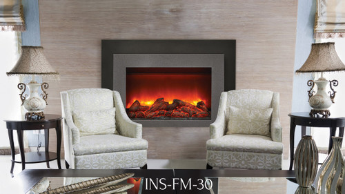 sierra flame electric fireplace insert with heat insfm30