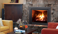 Enviro Q2 Gas Fireplace with logs