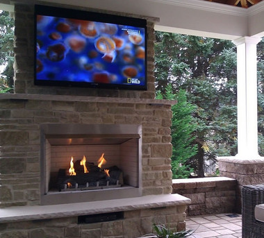 Carol Rose Traditional 36 Quot Outdoor Gas Fireplace