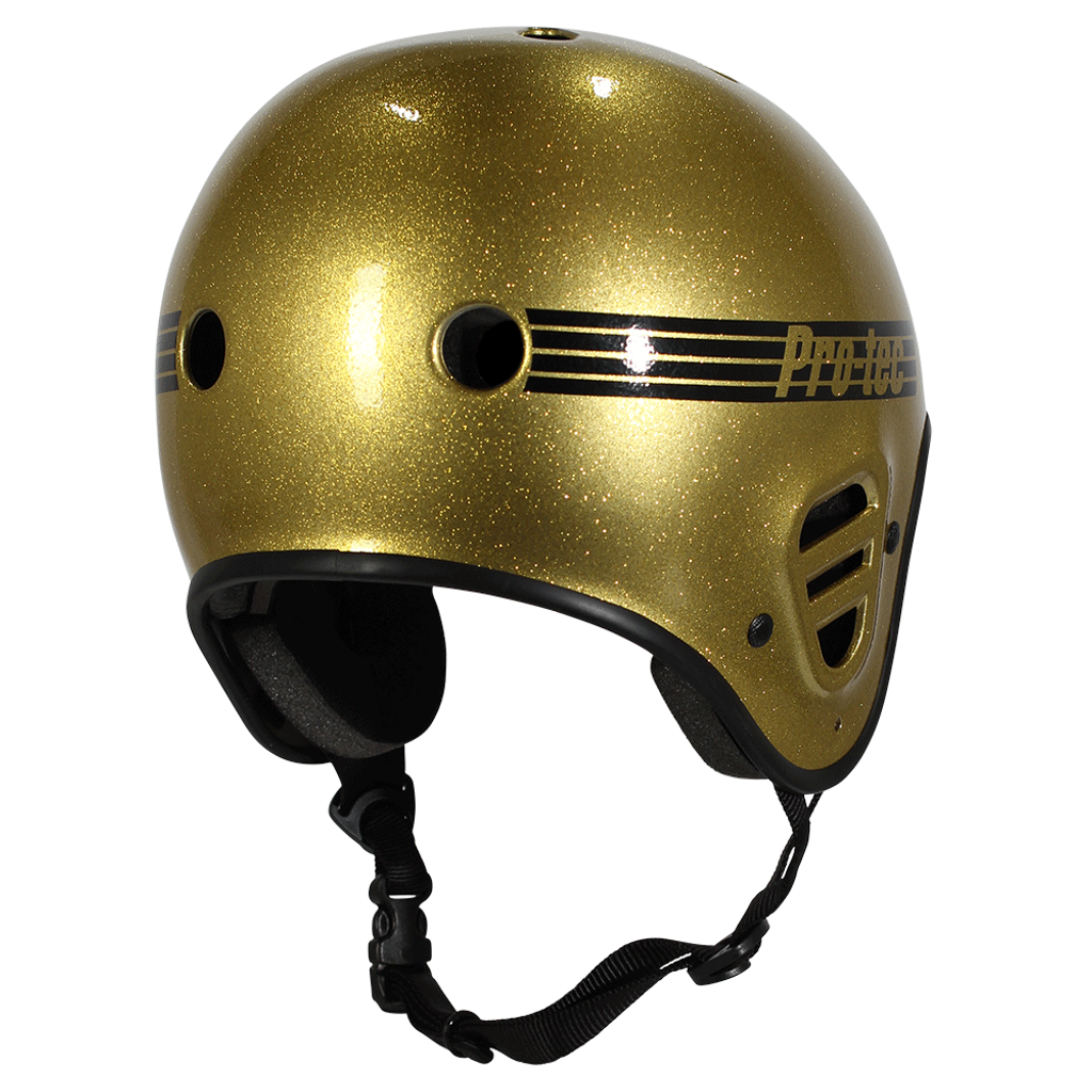 PRO-TEC Full Cut Skate Gold Flake Helmet