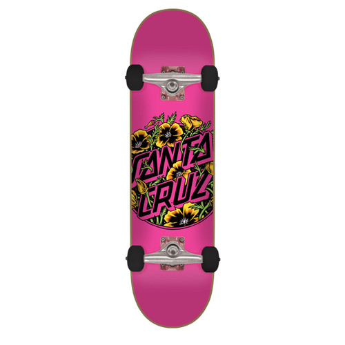 "Santa Cruz Colored Poppy Complete Skateboard 7.75"" x 31.4"""