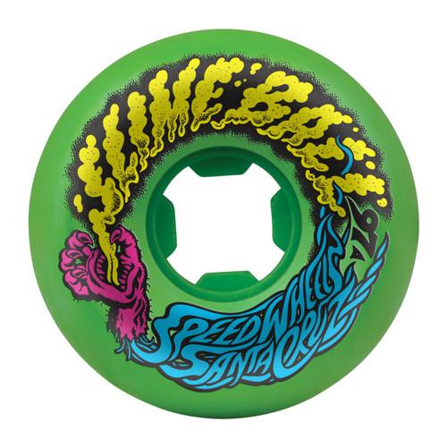 Santa Cruz Slime Balls Vomit Mini Wheels 56mm/97a Green (Set of 4)