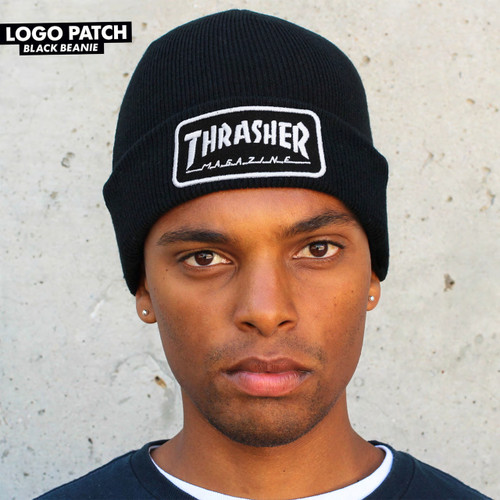 Thrasher Patch Beanie (Black)