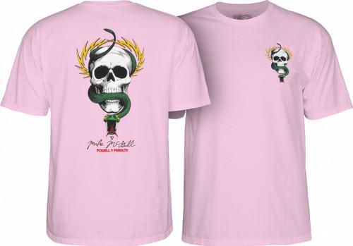 Powell Peralta Old School McGill Skull & Snake T-Shirt (Light Pink)