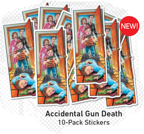 Blind Mariano Accidental Gun Death Sticker Pack