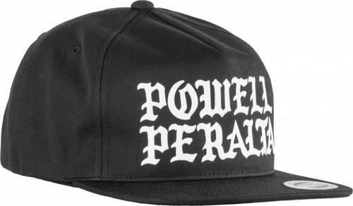 Powell Peralta Burst Snapback Hat Black
