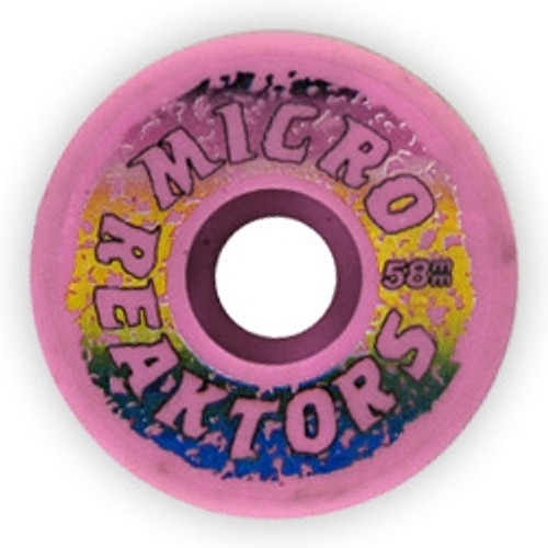 Old School NOS Kryptonics Micro Reaktor Wheels 58MM/95A Pink