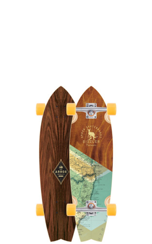 "Arbor Sizzler Groundswell Longboard 8.63"" X 31.75"" (Available as Deck or Complete) FREE USA SHIPPING"