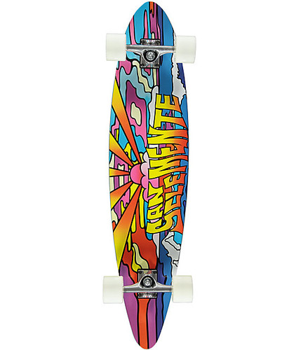 "San Clemente Stained Glass Pintail Longboard 38"" FREE USA SHIPPING"