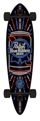 "Santa Cruz PBR Neon Pintail Complete Longboard 9.58"" X 39"""