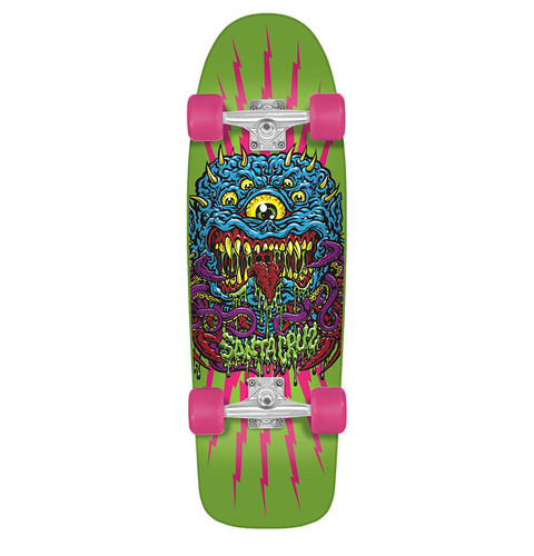 Santa Cruz Freak 80's Cruzer Skateboard FREE USA SHIPPING