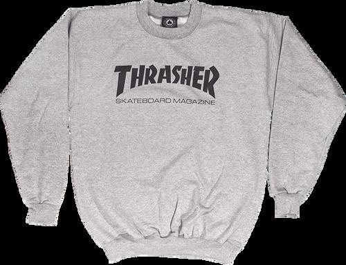 Thrasher Mag Logo Crewneck Sweatshirt Grey