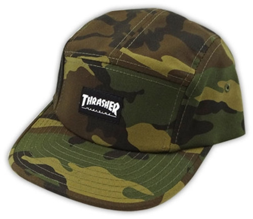 Thrasher 5 Panel Camo Snapback Hat