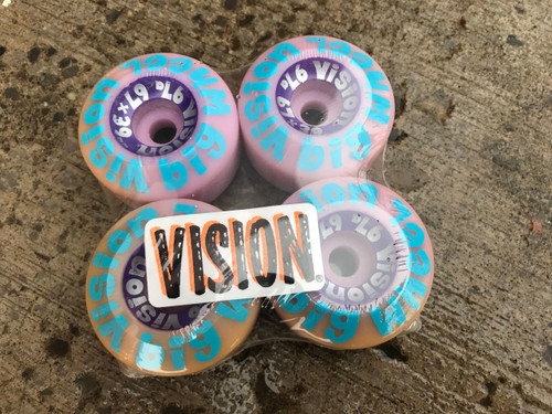 Old School NOS Vision Big Wheel Wheels 67MM/97A Vision-OS-Big-Wheel-Purp