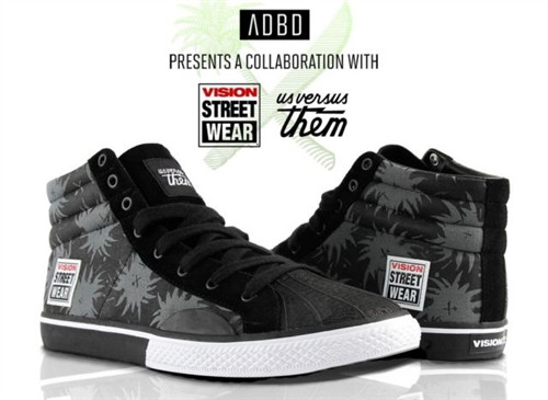 Vision Street Wear Us Vs. Them Canvas Hi Shoe