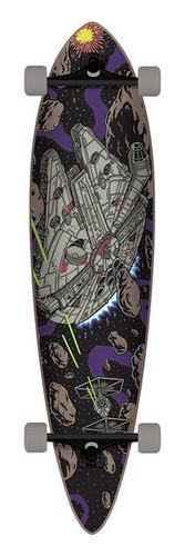 "Santa Cruz X Star Wars Millennium Falcon Longboard 9.5"" X 39"""