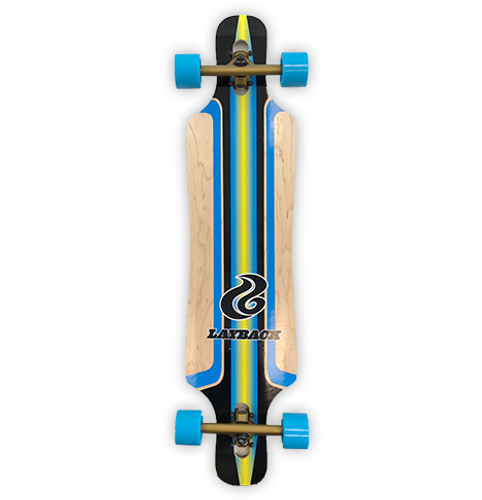 Layback Finish Line Drop Through Complete Longboard FREE USA SHIPPING