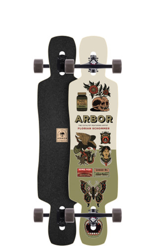 "Arbor Catalyst AC Longboard 9.13"" X 40"" (Available as Deck or Complete) FREE USA SHIPPING"