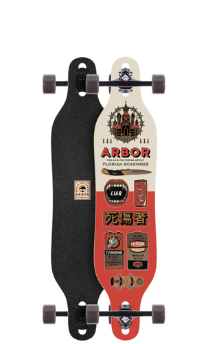 "Arbor Axis 40 AC Longboard 9"" X 40"" (Available as Deck or Complete) FREE USA SHIPPING"