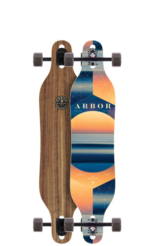 "Arbor Axis 40 PC Longboard 8.8"" X 40"" (Available as Deck or Complete) FREE USA SHIPPING"
