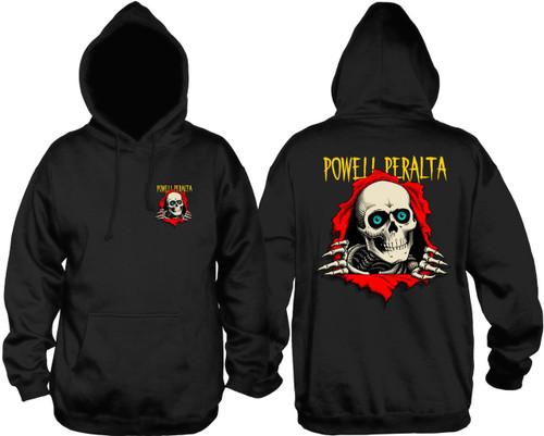 Powell Peralta Ripper Pullover Hooded Sweatshirt Black