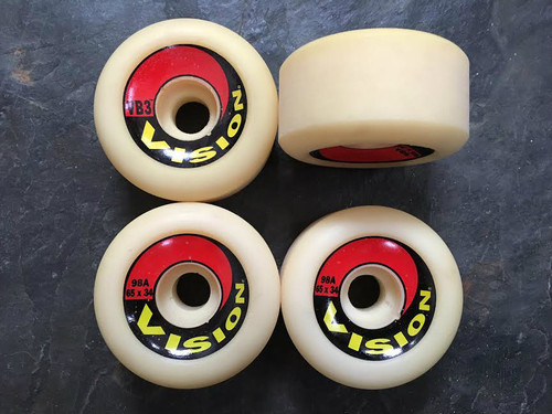 Old School NOS Vision VB3 Wheels 65mm/98a
