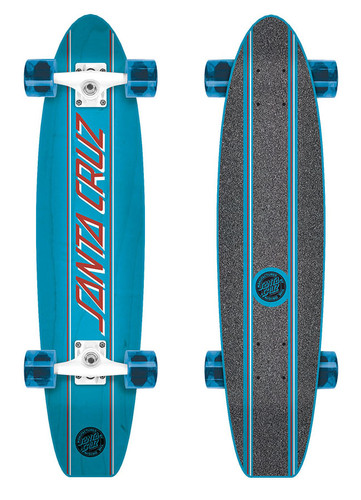 "Santa Cruz Classic Strip Cruzer Complete Skateboard 6.8"" X 28.95"""