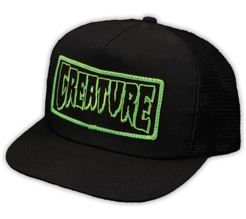 Creature Patch Mesh Snapback Hat