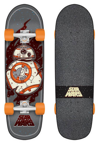 "Santa Cruz X Star Wars BB-8 Cruiser Complete 8.9"" X 30.75"""