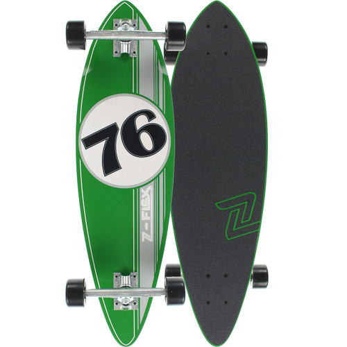 "Z-Flex GT Green Mini Pin Longboard 9"" X 32""  FREE USA SHIPPING"