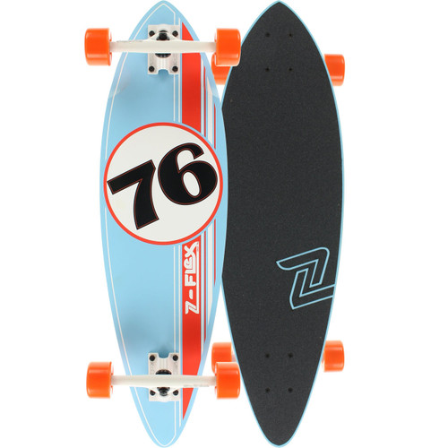 "Z-Flex GT Blue Mini Pin Longboard Complete 9"" X 32""  FREE USA SHIPPING"