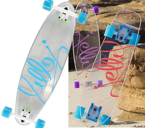 "Jelly Man O' War Complete Longboard W/2:BettyBox 9"" X 34"""