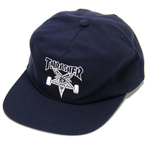 Thrasher Skategoat Wool Unstructured Snapback Hat Navy