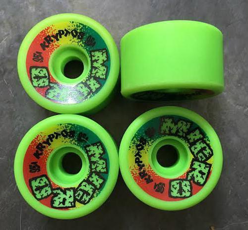 Old School NOS Kryptonics Micro Reaktor Wheels 58MM/95A Green