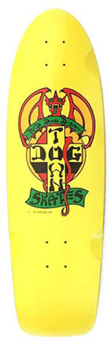 "Dogtown Red Dog OG Classic Gloss Yellow Deck 9"" X 30"""
