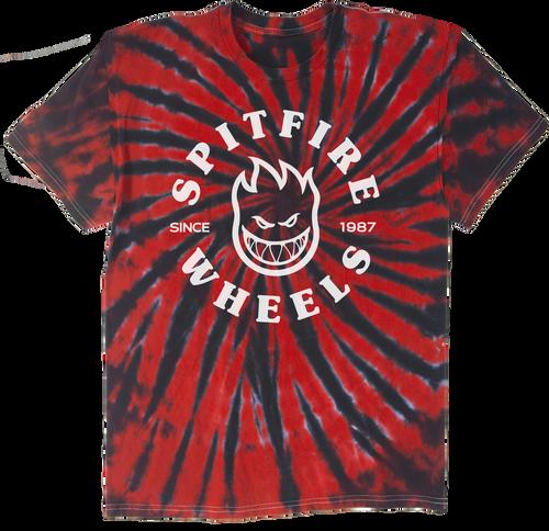 Spitfire Wheels Classic Bighead Red Tie-Dye T-Shirt