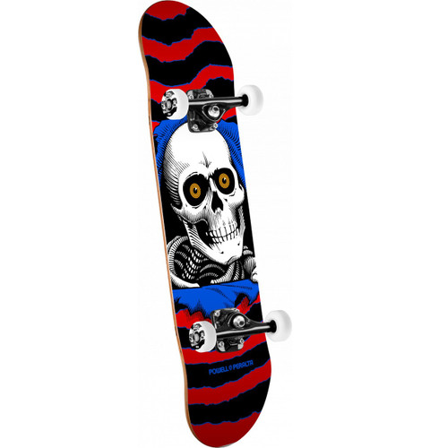 "Powell Peralta Ripper One Off Red Complete Skateboard 7.5"" X 28.65"""