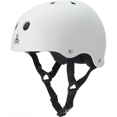 Triple Eight Brainsaver Rubber Helmet White