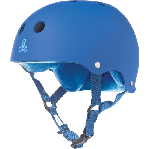 Triple Eight Brainsaver Rubber Helmet Royal Blue