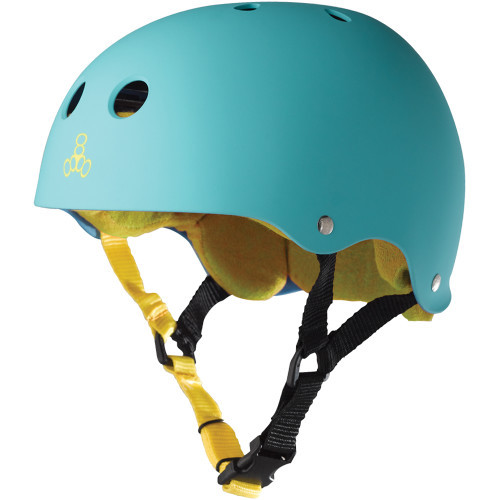 Triple Eight Brainsaver Rubber Helmet Baja Teal
