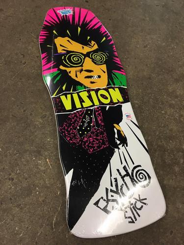 """Vision Psycho Stick Old School Reissue Deck White Dip 10"""" X 30"""""""