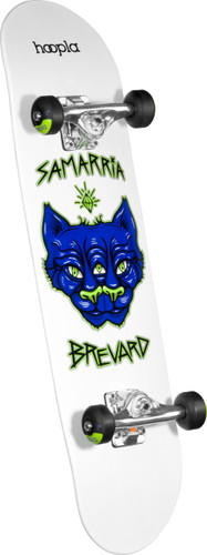 hoopla Samarria Brevard Panther Complete Skateboard White - 7.75 x 31.75