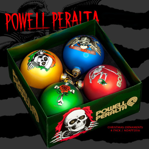 Powell Peralta X-Mas Ornaments (4-Pack)