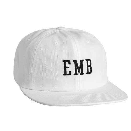 HUF EMB 6 PANEL \\ WHITE HAT