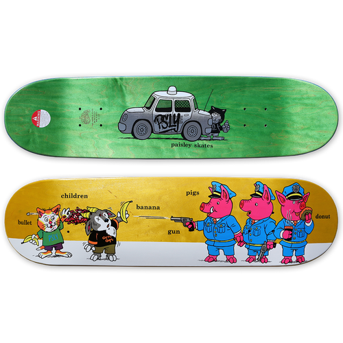 Paisley Skates Sean Cliver Pigs Deck