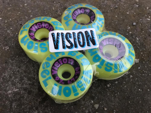 Old School NOS Vision Big Wheel Wheels 67MM/97A Yellow