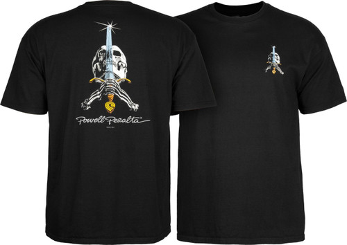 Powell Peralta Old School Skull & Sword Shirt (Available in 5 Colors)