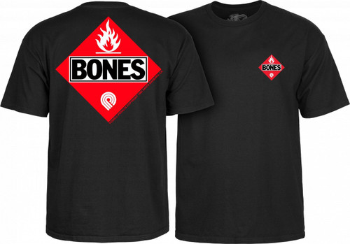 Powell Peralta Old School Bones Flammable T-Shirt (Available in 4 Colors)